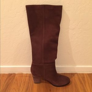 Cole Haan brown suede boots with Nike Air